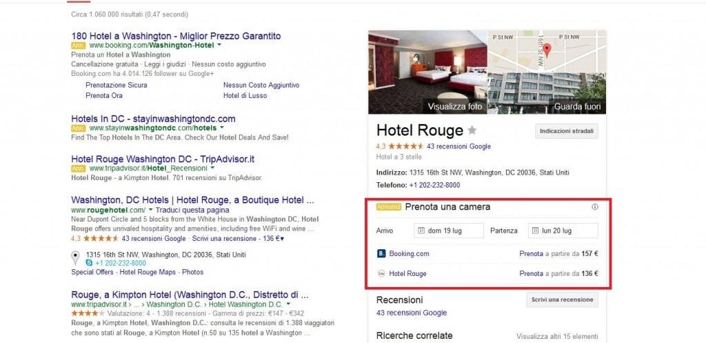 hotel Rouge prenotabile da Google
