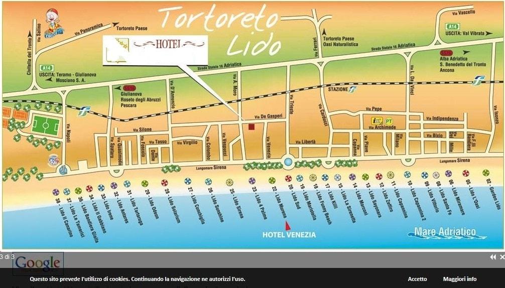 Tortoreto mappa