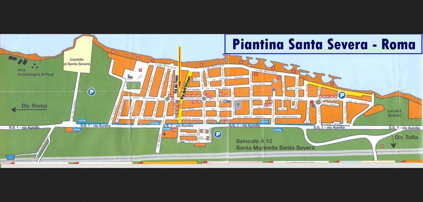 piantina Santa Severa
